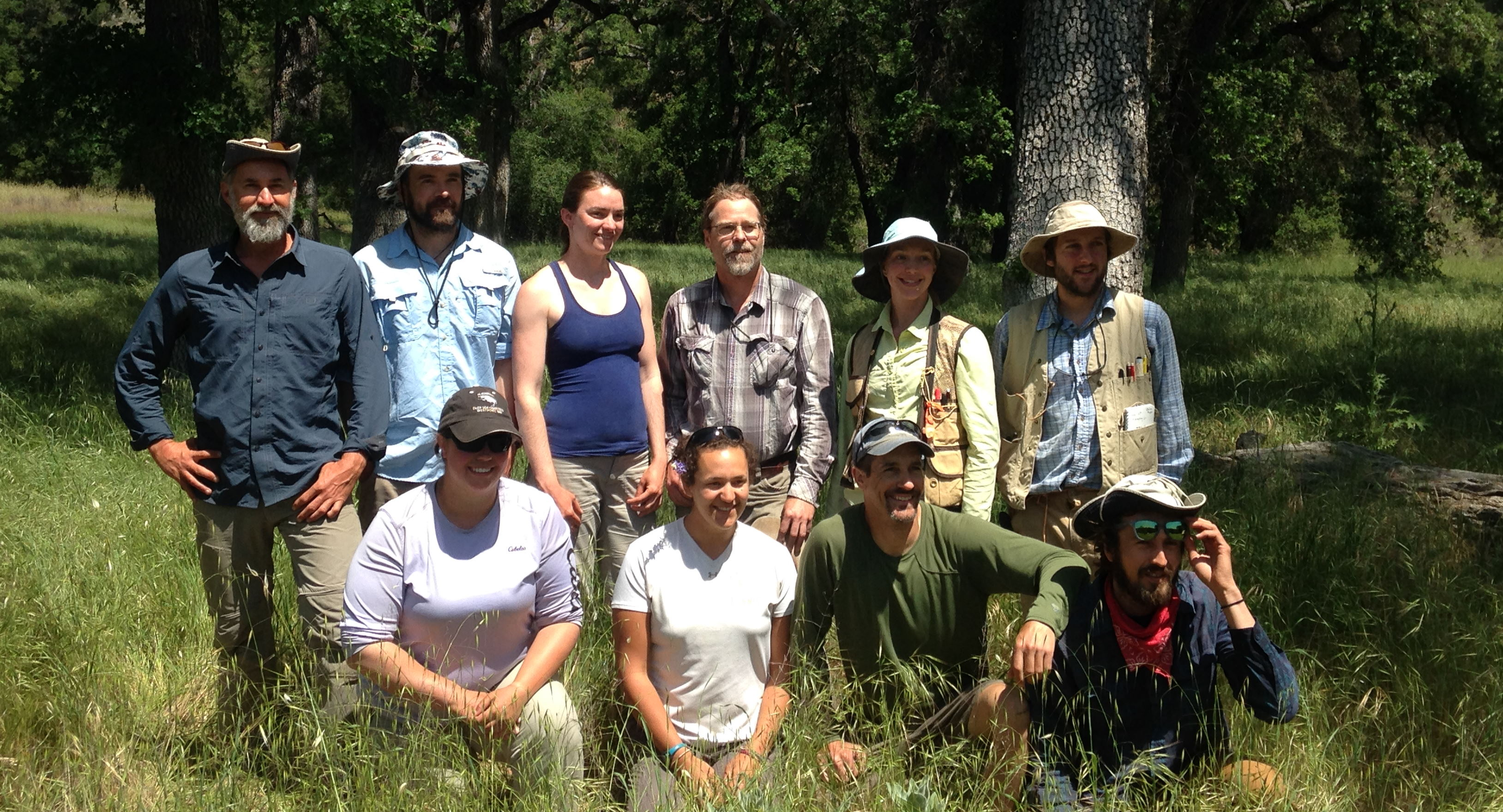 group photo of Dave Lytle and research team