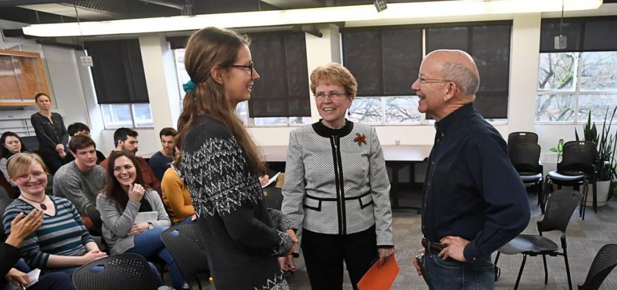 Claire Couch, Jane Lubchenco and Representative Peter DeFazio