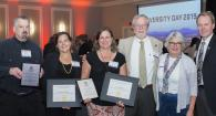 Andy Blaustein, Devon Quick, Lori Kayes, Bob Mason, Virginia Weis and Dean Haggerty at awards night