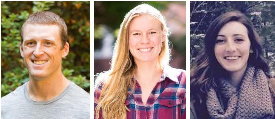 composite photo of headshots of Will Fennie, Heather Fulton-Bennett and Kelsey Swieca